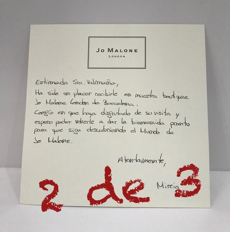 Jo Malone mailing
