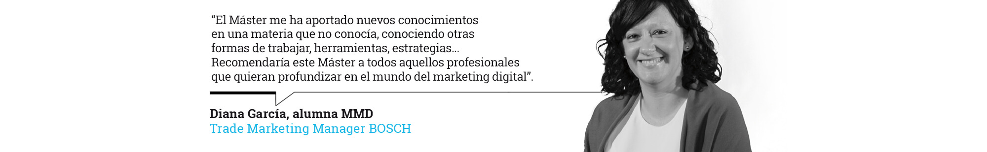 Máster de Marketing Digital - Diana García, alumna