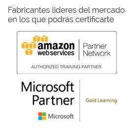 Fabricantes Microsoft y Amazon