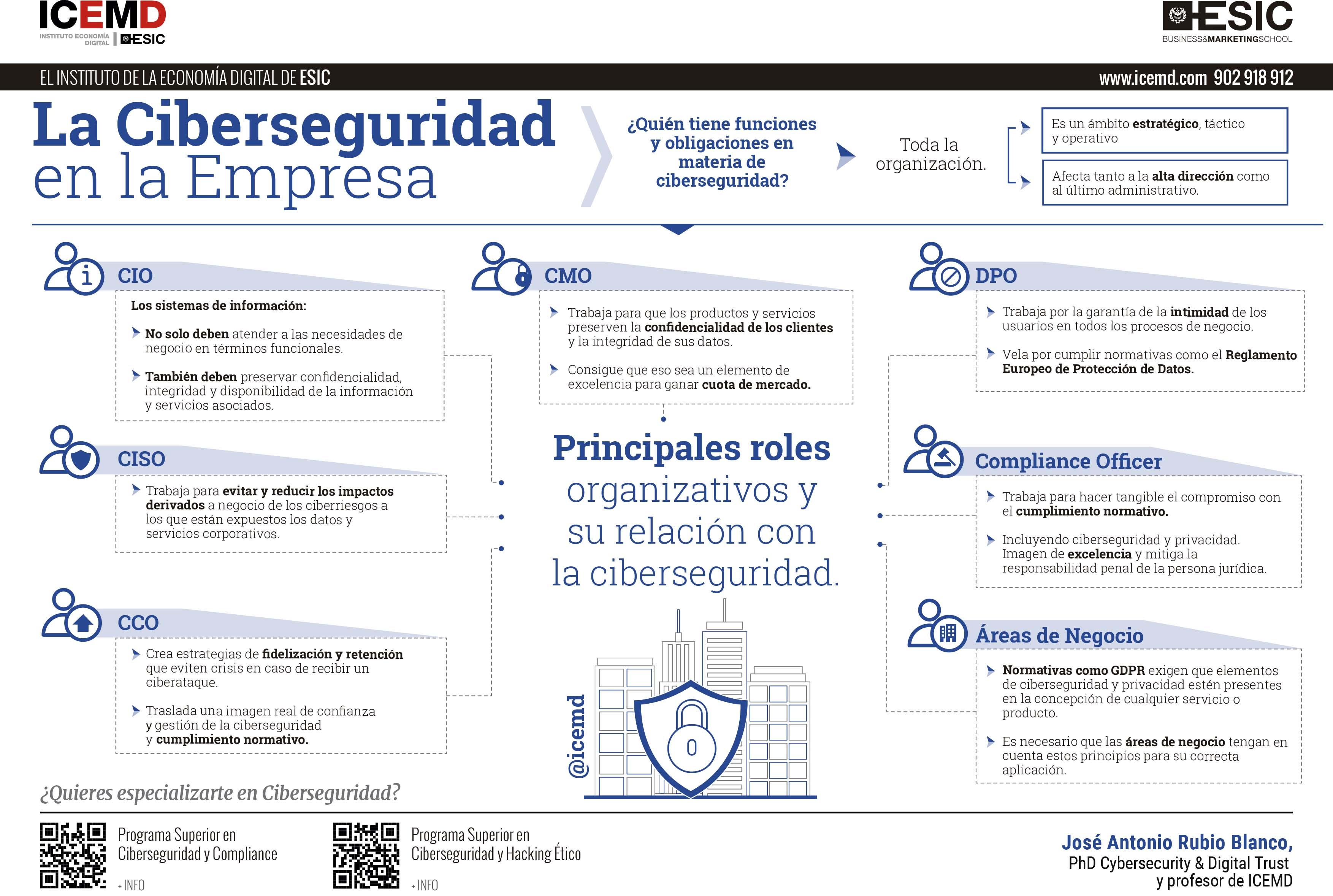 Ciberseguridad en la empresa: ¿quién tiene funciones y obligaciones?